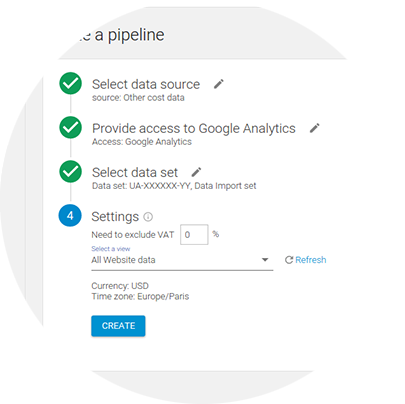 Upload Cost Data to Google Analytics from Any Source | OWOX BI Pipeline