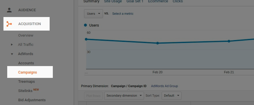 Google Ads data in Google Analytics reports
