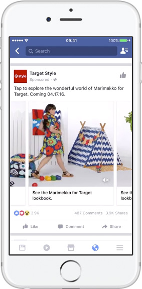 Facebook feed — carousel ads — image