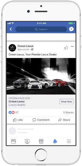 Facebook feed— single image