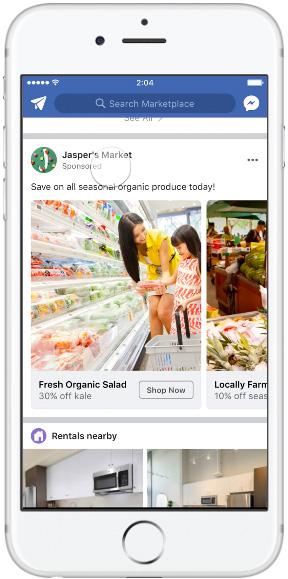Facebook marketplace— single image