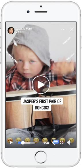 Facebook stories— single Video