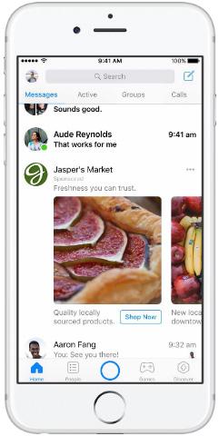 Messenger— Inbox— Carousel Ads