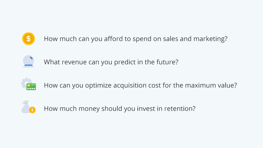 LTV helps you answer these business questions